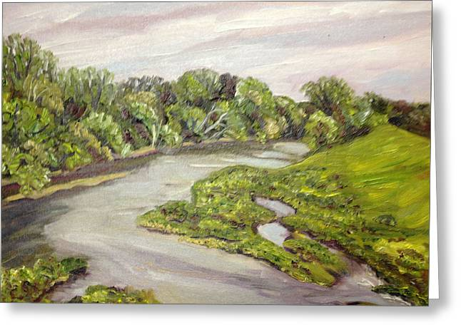 Westfield River Spring Greeting Card by Richard Nowak