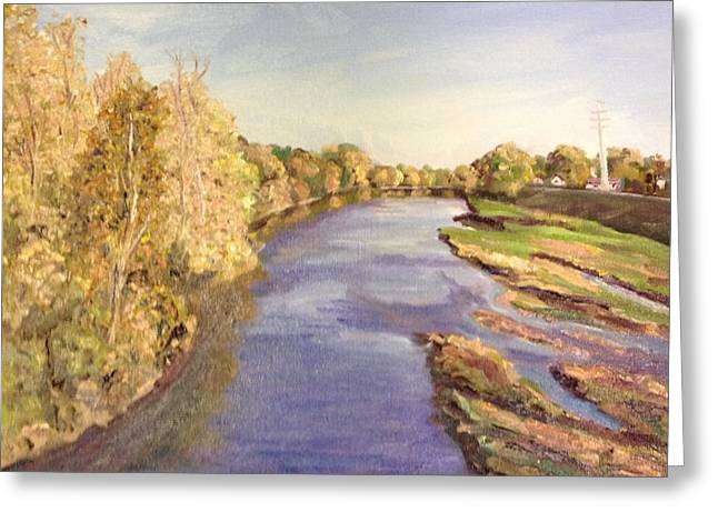 Westfield River- View From Bridge Greeting Card by Richard Nowak