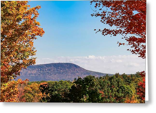 Greeting Card featuring the photograph Westhampton View Of Mount Tom by Sven Kielhorn