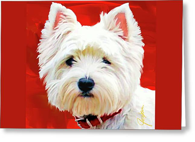 Westie Red Greeting Card