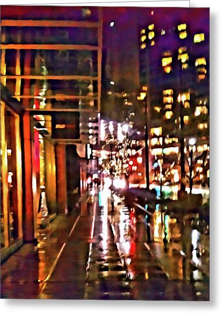 Westlake Rain Greeting Card