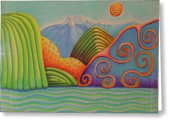 Westland Lake Nz Greeting Card by Barbara Stirrup