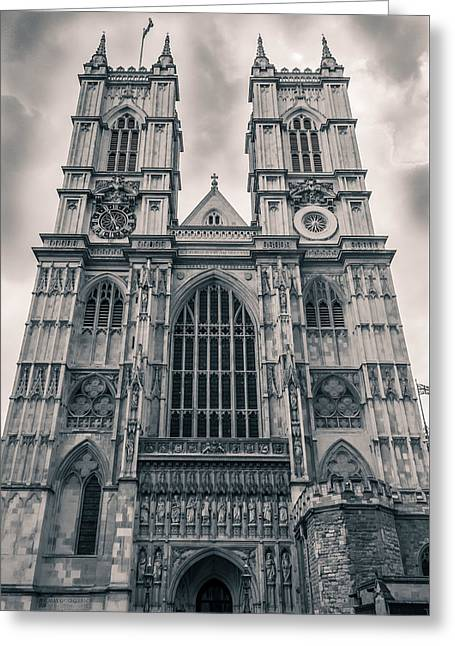 Westminister Abbey Bw Greeting Card
