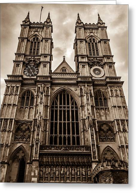 Westminister Abbey Sepia Greeting Card