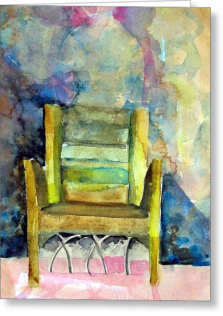 Angel Blues Drawings Greeting Cards - Westminster Abbey Queen Chair Greeting Card by Mindy Newman