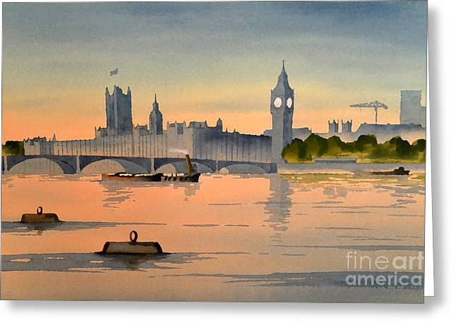 Westminster And Big Ben 1 Greeting Card by Bill Holkham