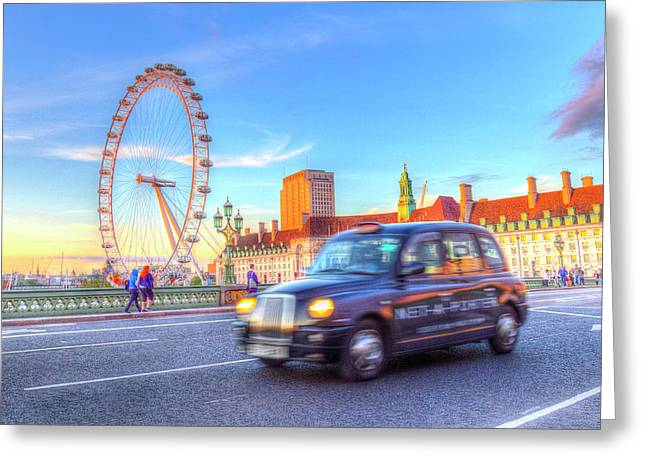 Westminster Bridge And The London Eye Greeting Card by David Pyatt
