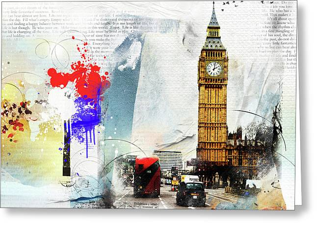 Westminster Greeting Card by Nicky Jameson