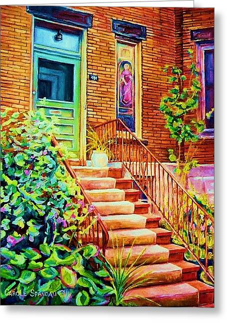 Westmount Home Greeting Card by Carole Spandau