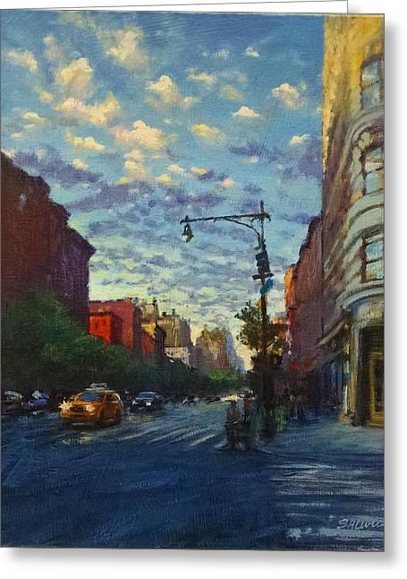 Westside Sunset No. 4 Greeting Card by Peter Salwen