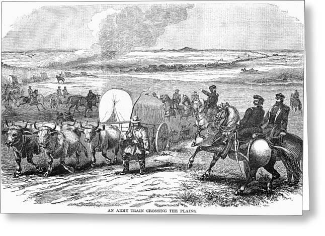 Westward Expansion Greeting Cards - Westward Expansion, 1858 Greeting Card by Granger