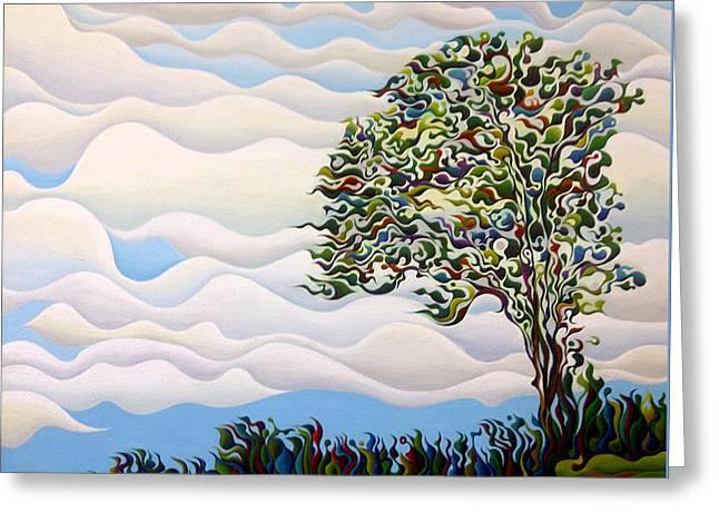 Westward Yearning Tree Greeting Card