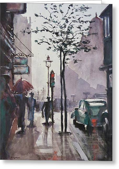Wet Afternoon Greeting Card