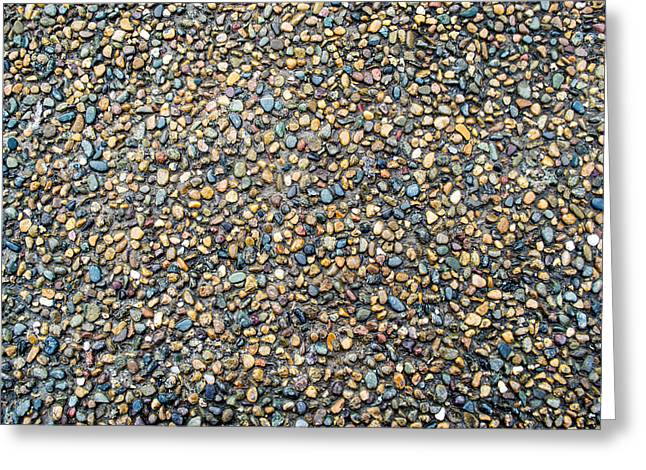 Wet Beach Stones Greeting Card