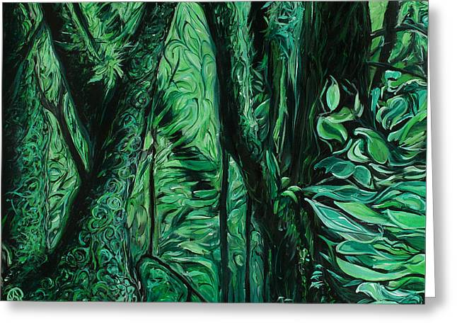 Wet Forest Greeting Card