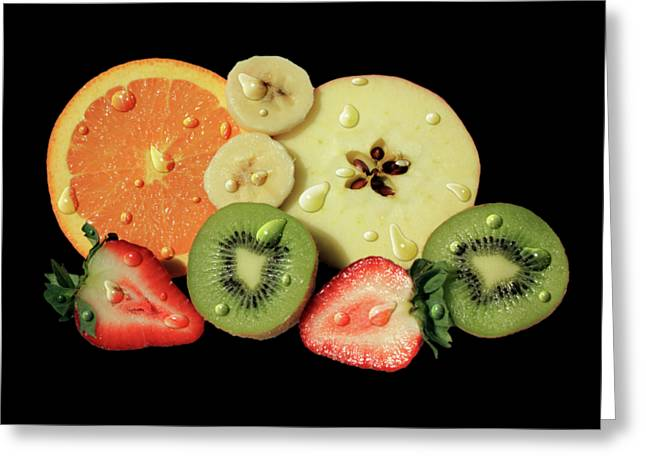 Greeting Card featuring the photograph Wet Fruit by Shane Bechler