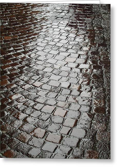 Greeting Card featuring the photograph Wet Lucca Street by Michael Flood