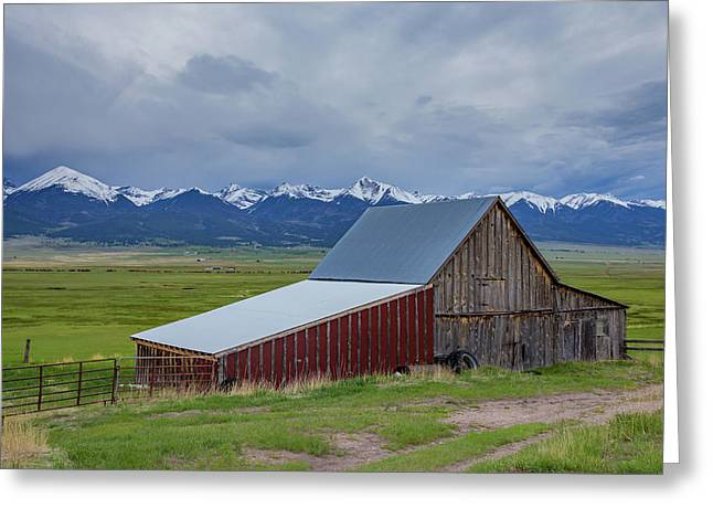 Wet Mountain Valley Barn Greeting Card