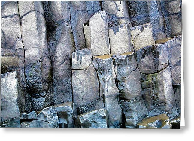 Greeting Card featuring the photograph Wet Rocks 2 by Hitendra SINKAR