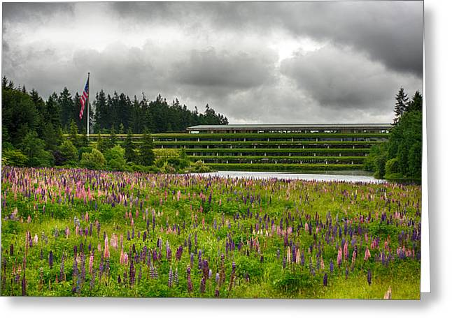 Greeting Card featuring the photograph Weyerhaeuser Headquarters by Dan McManus