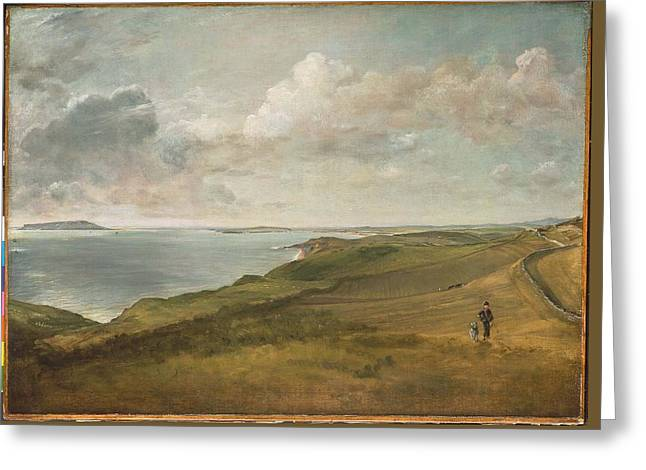 Weymouth Bay From The Downs Above Greeting Card