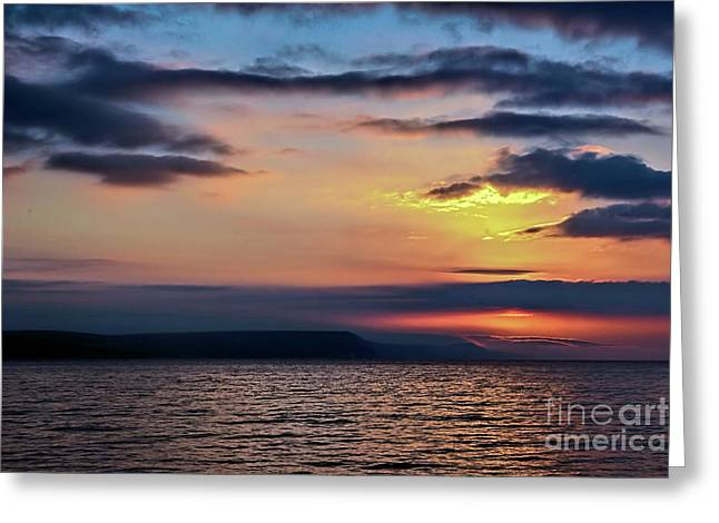 Weymouth Esplanade Sunrise Greeting Card