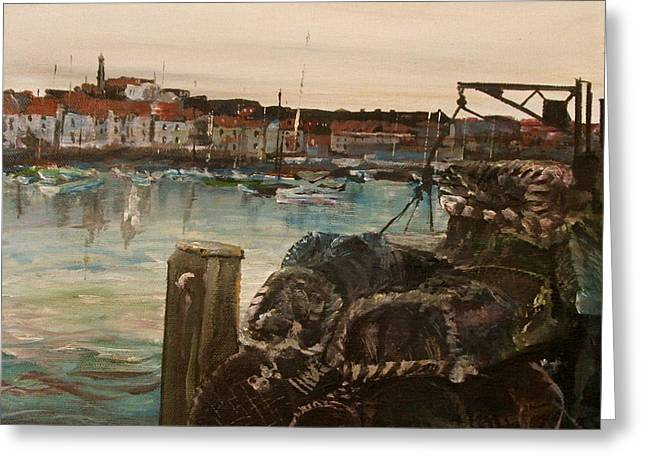 Weymouth Harbor, Uk Greeting Card by George Lucas