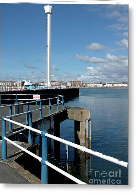 Weymouth Pavillion Pier And Tower Greeting Card by Baggieoldboy