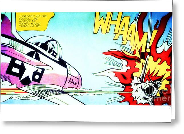 Whaam Greeting Card