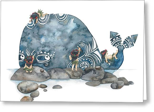 Whale Art Greeting Card
