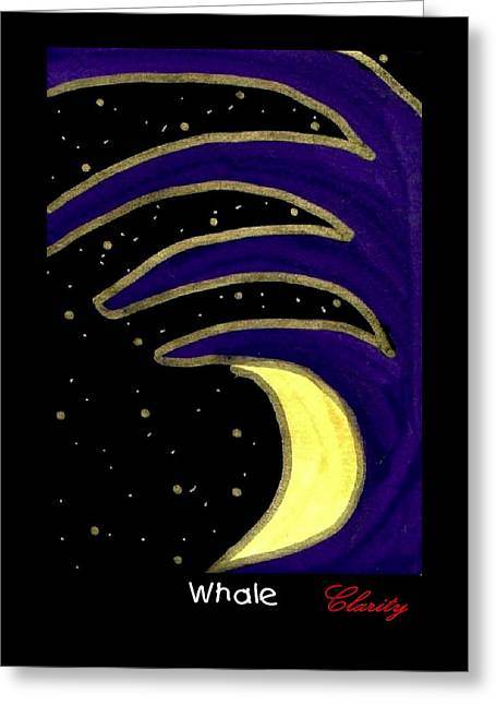 Greeting Card featuring the painting Whale by Clarity Artists