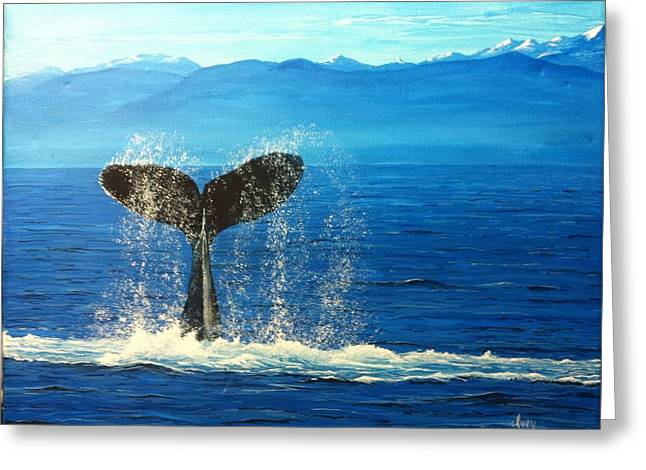 Mike Ivey Greeting Cards - Whale of a Tail Greeting Card by Mike Ivey