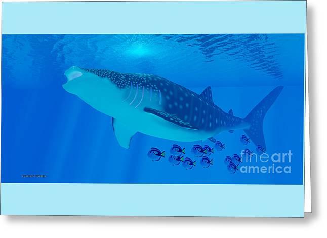 Whale Shark Feeding Greeting Card
