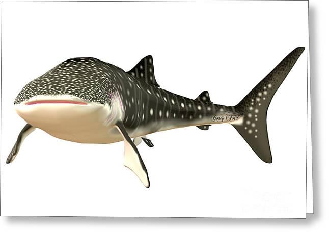 Whale Shark Profile Greeting Card