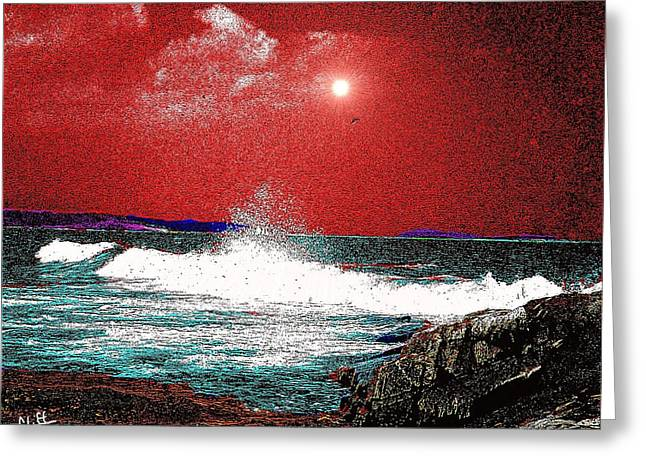Whaleback At Peaks Island Maine Greeting Card
