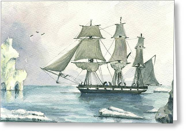 Whaler Greeting Card