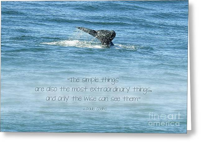 Greeting Card featuring the photograph Whale's Tail by Peggy Hughes