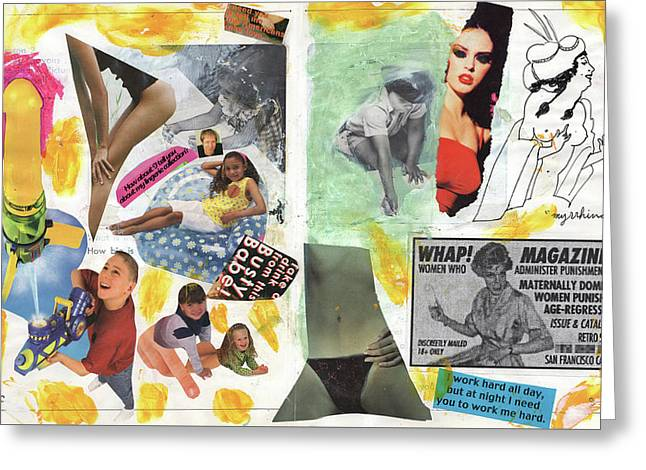 Wham Greeting Card by Jagrend D'Boeuf