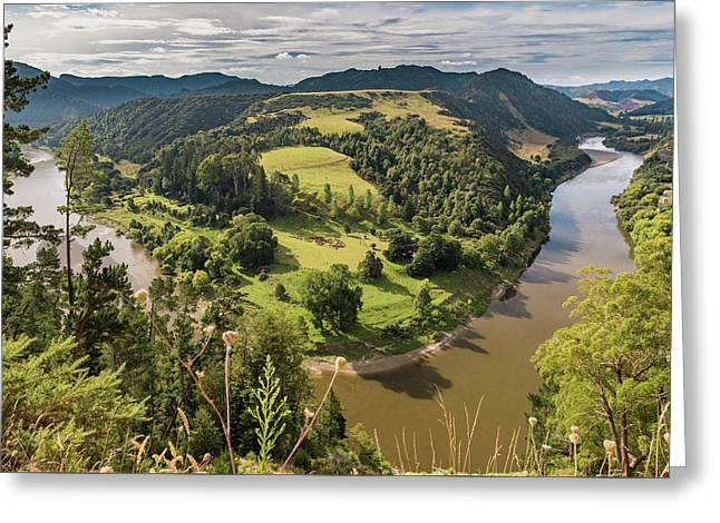 Greeting Card featuring the photograph Whanganui River Bend by Gary Eason