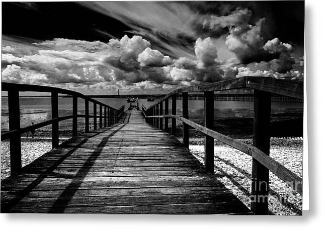 Wharf At Southend On Sea Greeting Card by Avalon Fine Art Photography