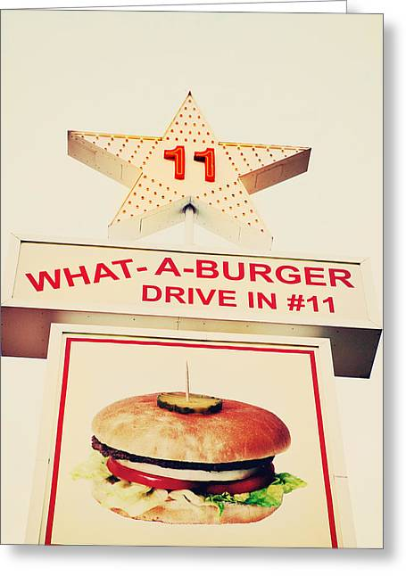 What A Burger Greeting Card by Kim Fearheiley
