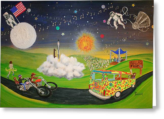 What A Time It Was Greeting Card by Ann Sokolovich