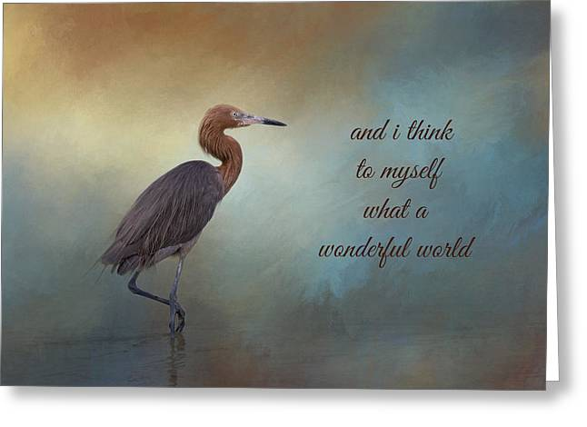 What A Wonderful World Greeting Card by Kim Hojnacki