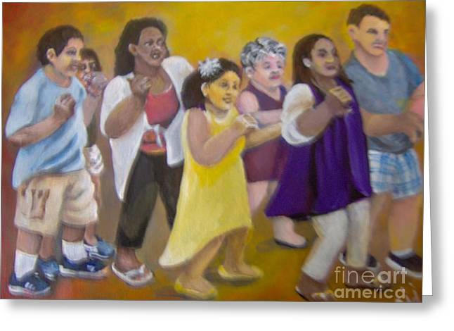 Greeting Card featuring the painting What America Should Look Like by Saundra Johnson