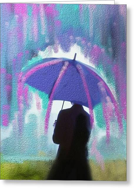 What Color Is The Rain Greeting Card