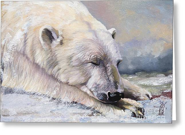 What Do Polar Bears Dream Of Greeting Card