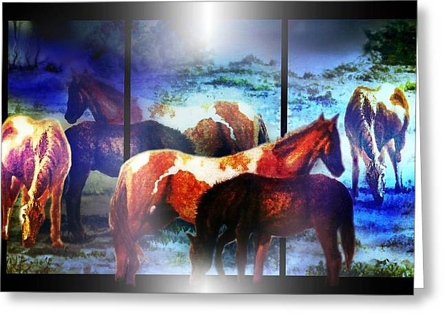 What  Horses Dream Greeting Card