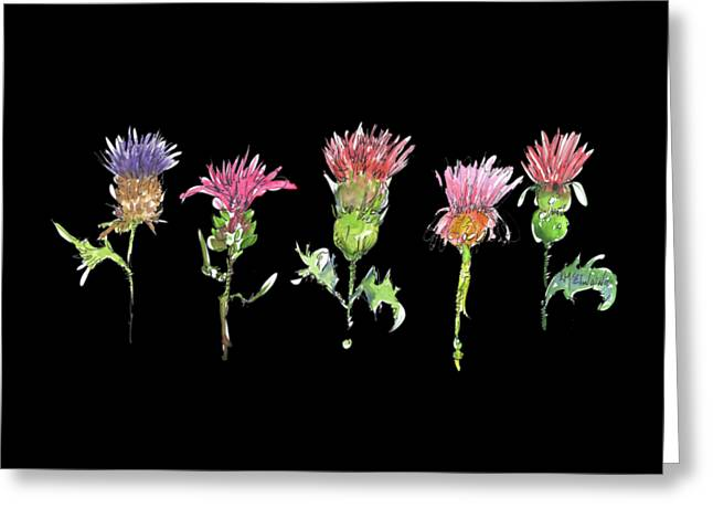 What Is It About A Thistle Fl006 Greeting Card