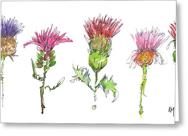 What Is It About A Thistle Greeting Card