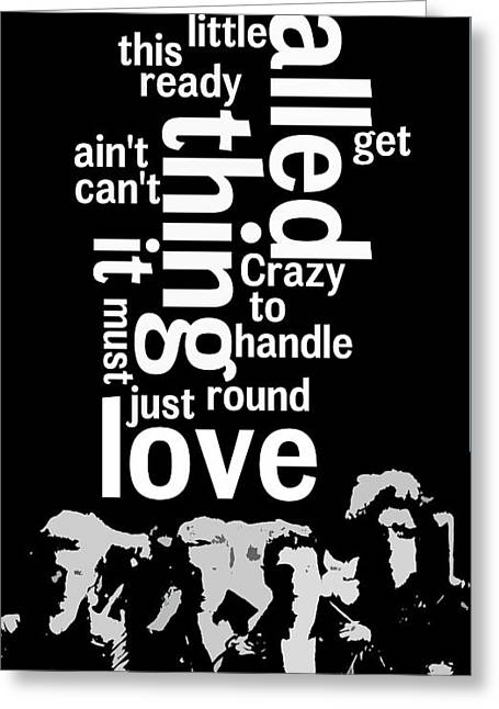 What Is The Name Of The Song? Queen. Crazy Little Thing Called Love.  Greeting Card by Pablo Franchi